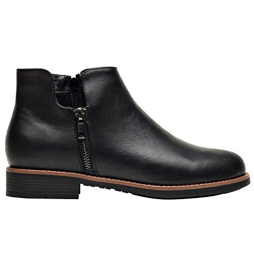 Aukusor-Womens-Ankle-Boots-Low-Heel-Short-Boots-for-Ladies-Slip-on-Side-Zipper-Martin-Boots-for-Girls-Work-Shoes-for-Women