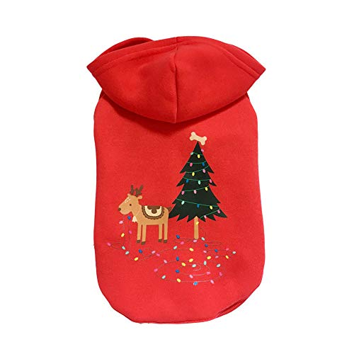 Geetobby Christmas Pet Sweatshirt Puppy Cat Autumn Winter Warm Pullover Costume -