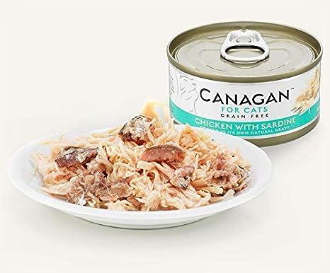 canagan Forro para gatos sin cereales – Chicken with Sardine – 75 ...