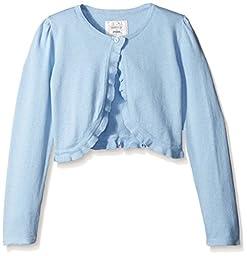 Gymboree Little Girls Cropped Cardigan, Light Blue, Small