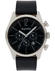 Gigandet Herren-Chronograph Quarz Datum Analog mit Lederarmband Art Deco G13-002