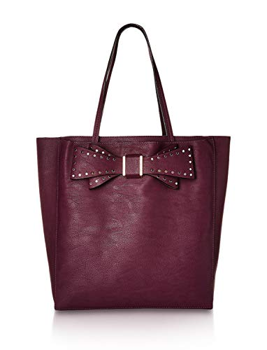 Betsey Johnson Women's Stud Bow Structured Tote Purple One ()