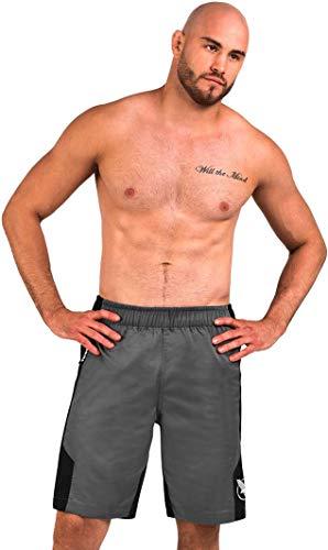 Hayabusa Lightweight Fight Shorts | MMA, BJJ, Boxing, Crossfit and Fitness | Gray, Large
