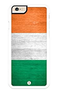 iZERCASE iPhone 6 PLUS Case Ireland Flag Irish RUBBER CASE - Fits iPhone 6 PLUS T-Mobile, Verizon, AT&T, Sprint and International
