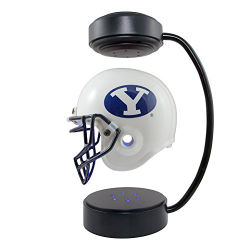 BYU Cougars NCAA Hover Helmet - Collectible Levitating Football Helmet with Electromagnetic Stand Cougars Helmet