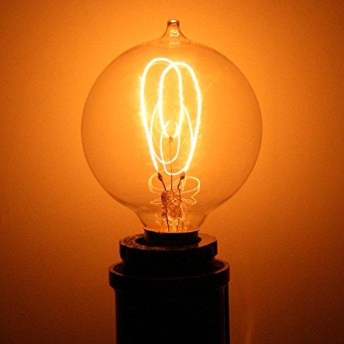 Ferrowatt 19072 - 15 watt 120 volt Round Carbon Filament Candelabra Screw Base Ferrowatt (1907) (F1907 15W 120V E12)