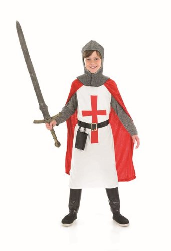 St George Knight Crusader Childs Fancy Dress - M 50inch Height - St George Knight Costume