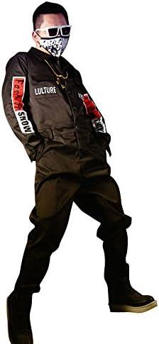 N&E-EMAIGI Men Long Sleeve Hip Hop Jumpsuits Casual Tooling Harem Pants Male Trousers Overalls