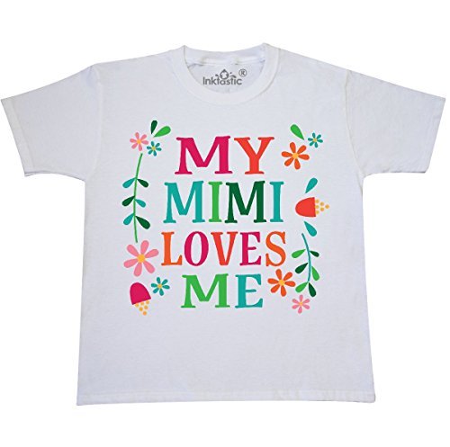 inktastic - My Mimi Loves Me Girls Outfit Youth T-Shirt Youth Small (6-8) White -