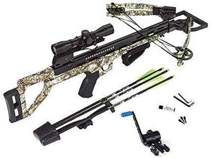 Carbon Express Covert Tyrant Ready-to-Hunt Crossbow Kit, Badlands Approach Camo, One Size