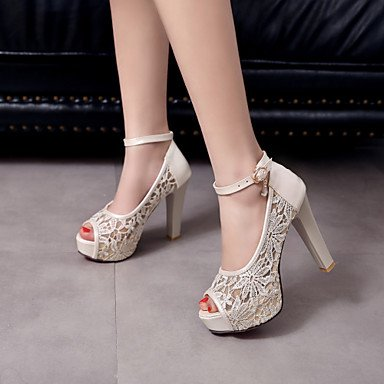 Comfort Shoes Toe Toe White Heels Wedding Sandalswedding Round Toe Platform Peep Novelty Women'S Open YUqaFwz