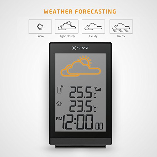 X-Sense Wireless Weather Forecast Station with Indoor/Outdoor Temperature, Ice Alert