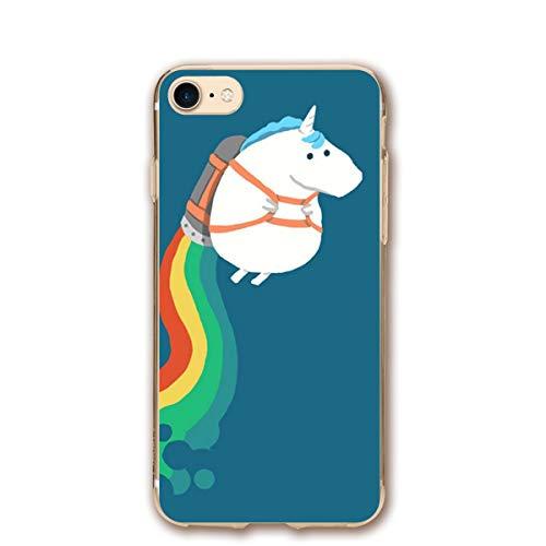 iPhone 8 Case/iPhone 7 Case Fat Unicorn Sturdy Phone Cover Cases Shockproof - Fat Cute