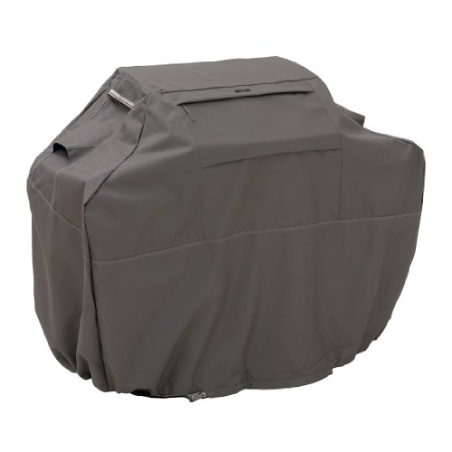 Classic Accessories Ravenna Grill Cover - Premium BBQ Cover with Reinforced Fade-Resistant Fabric, Medium, 58-Inch