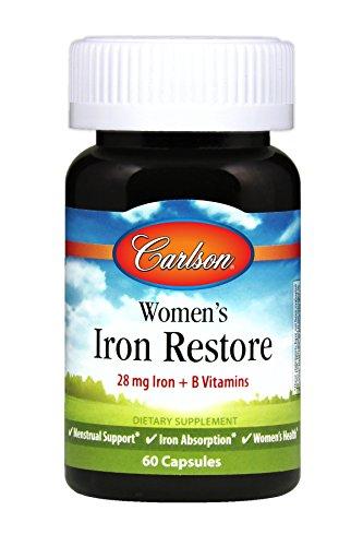 Carlson Women's Iron Restore, Menstrual Support & Iron Absor