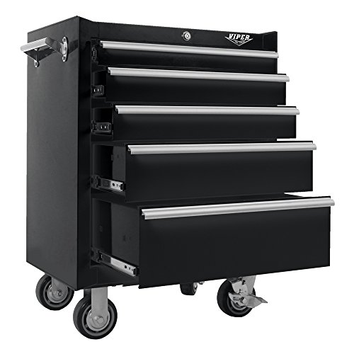 Viper Tool Storage V2605BLR 26-Inch 5-Drawer 18G Steel Ro...