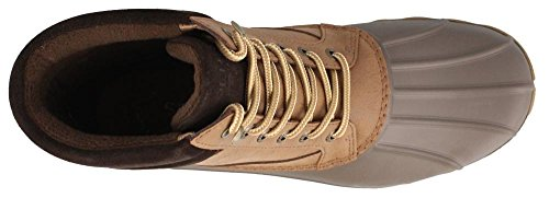 Sider Boot Rain Men's Dark Tan Top Brewster Sperry 71qwaOB6qx
