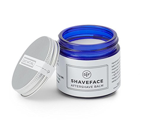 Aromatic After Shave (ShaveFace Natural Aftershave Balm for Men to Soothe & Hydrate Sensitive Skin with Shea Butter, Light Orange & Pine, 2 oz)