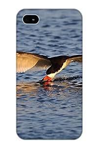 Byswfj-7375-vnrliaj Case Cover Protector Series For Iphone 4/4s Animal Bird Water Animal Case For Lovers