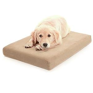 Milliard Premium Orthopedic Memory Foam Dog Bed with Anti-Microbial Waterproof Non-slip Cover, Medium 34x22x4 in