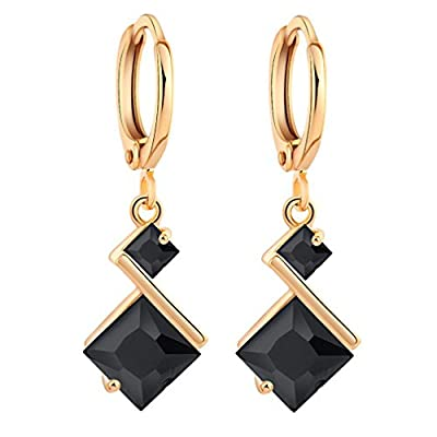 Yazilind 18K Gold Plated Cubic Zirconia Inlay Charming Hoop Dangle Earrings for Women Gift supplier