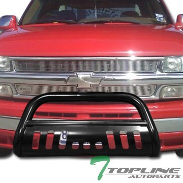 Topline Autopart Black HD Bull Bar Brush Push Bumper Grill Grille Guard 99-06 Silverado/Sierra 1500 (Bull Bar Bumper Guard compare prices)
