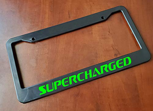 MULTI-COLOR Supercharged license plate frame