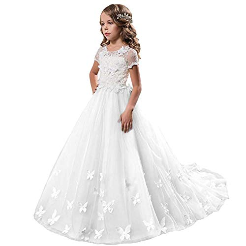 Fancy Girls Pageant Mint Dresses 0-12 Year Old White Size 8]()