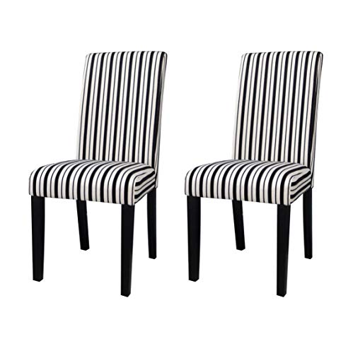 Milan Maple Modern Parson Side Chair, Beige & black, Set of 2, Beige and Black Review