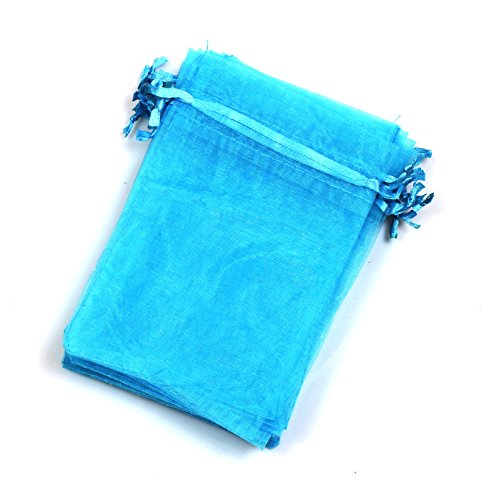 EDENKISS drawstring Organza Jewelry Pouch Bags (Blue, (Satin Ribbons Jewellery Pouch)