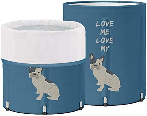 浴槽 バースバレル家庭用折りたたみ風呂バレル大人バスタブ肥厚大人子供バスタブ大きな二サイズ利用可能なブルー 大人用家庭用 (Color : Blue, Size : 65x65cm)