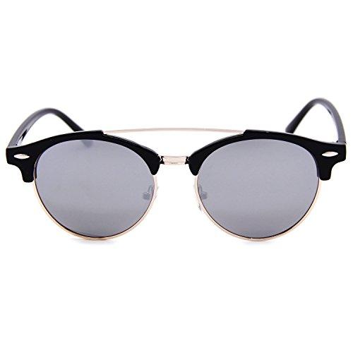 AMZTM Gafas hombre Negro Plateado de para sol rvrqxFwfB