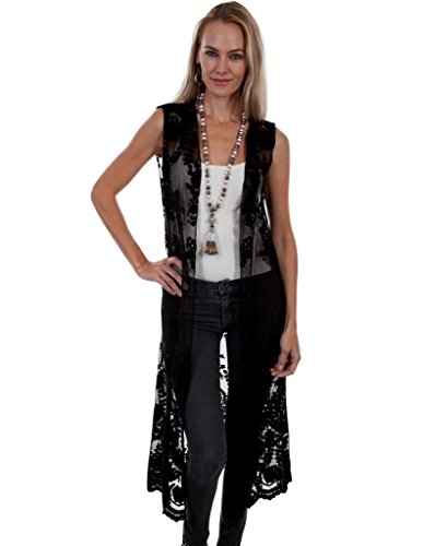 Scully Women's Honey Creek by Ivory Lace Duster Black ()