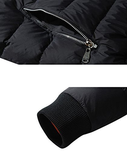 Cappotto Nero Packable Giù Breve Peso Trapuntato Yeokou Puffer Uomini XxT0P58