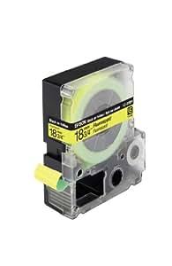 Epson LC5YBF9 - Cinta para etiquetadora, 18 mm, color negro y amarillo