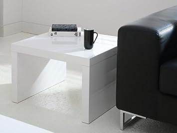 Couchtisch Quadratisch Weiß Schwarz Hochglanz 60x60 Cm Amazonde