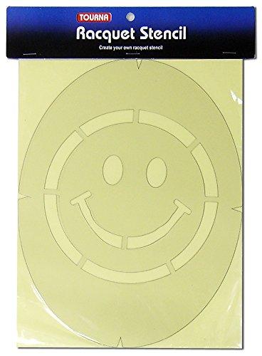 Tourna Fun Smiley Face Racquet Stencil (Happy Face Stencil)