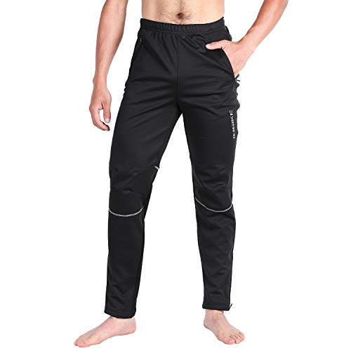 INBIKE Winter Cycling Pants Mens Runing Pants Jacket Windproof Pants Thermal Small Black