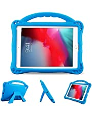 ProCase Kid Case for iPad Air 2/ Air 1/ iPad 9.7 6th 5th 2017 2018/ iPad Pro 9.7 2016 for Boys and Girls, Ultra Shockproof Lightweight Rugged Cover Full Protective Case with Handle Kickstand -Blue