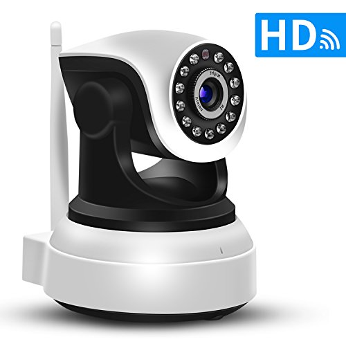 SDETER IP Camera Wireless Wifi 720P HD - Plug/Play,Pan/Tilt,Night Vision for Pet Baby Monitor,Home Surveillance Security Alarm System (US Edition)