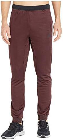 メンズ ボトムス・パンツ Athlete ID 3-Stripes Training Pants Night Red サイズXLx30 [並行輸入品]