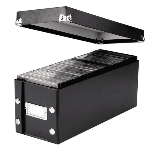 Snap-N-Store : CD Storage Box Holds 60 Discs, 5 1/4 x 14 x 5 3/4, Black -:- Sold as 2 Packs of - 1 - / - Total of 2 Each