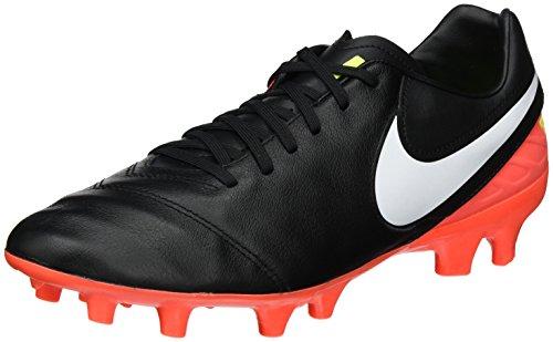 Nike Hombres Tiempo Mystic V Fg Soccer Cleat Negro / Blanco Hyper Orange Volt