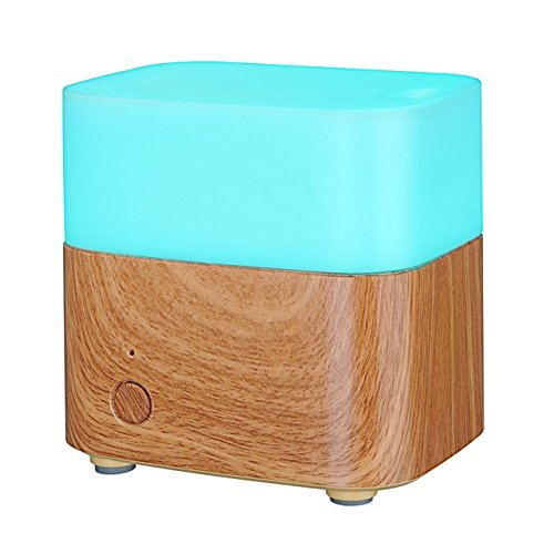 VicTsing 120ml Essential oil Diffuser Aromatherapy Whisper-Quiet Cool Mist Humidifier With Adjustable Mist Mode,Multi-Color Light and Waterless Auto Shut-Off For Car Wash, Cleaning, Watering Lawn and Garden