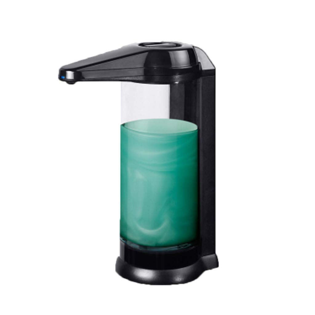 Soap dispenser Emulsion Kitchen Bathroom Infrared Sensor Hand sanitizer 500ml Large Capacity Sink Plastic Hand sanitizer Bottle (Color : Black, Size : 2215.38.3cm)