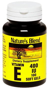 Nature's Blend Vitamin E IU - 100 Softgels, Pack of 6 by Nature's Blend