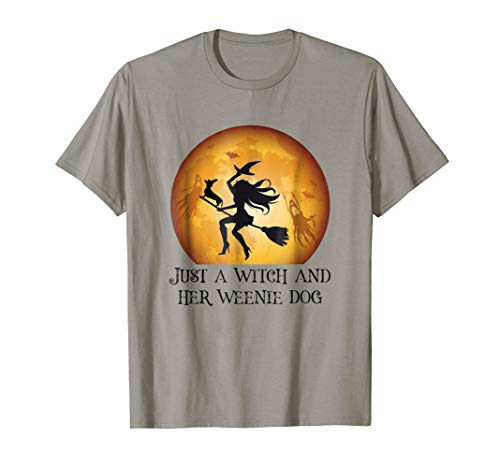 Halloween Dachshund Dog Shirt Funny Costume Witch Gift ()