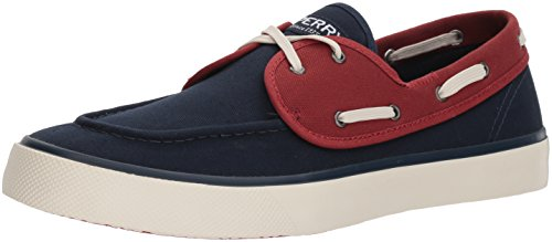 Sperry Captains 2 Eye Slip on Shoes Navy Red
