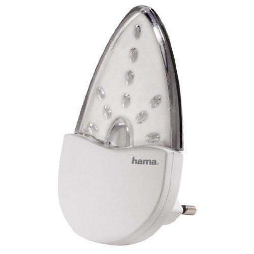 Hama Bernstein LED Nachtlicht für Kinderzimmer und Schlafzimmer, stromsparend, 0,2 W, Orientierungslicht für Gang und Keller, Stimmungslicht, Nachtlampe, Eurostecker