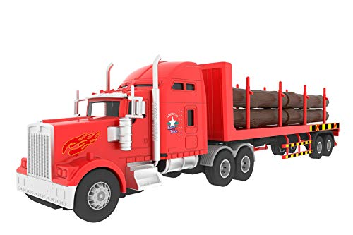 - Big Daddy Big Rig Heavy Duty Tractor Trailer Transport Series Lumber Truck Tractor Trailer